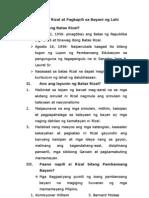 Ang Batas Rizal at Pagkapili sa Bayani ng Lah1