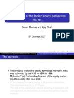 Case Study of the Indian Equity Derivatives Market