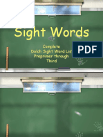Dolch Sight Words PPT.ppt