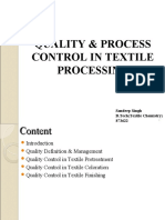 Quality & Process Control In Textile Processing