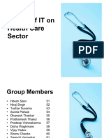 Impact of IT on Health Care Sector