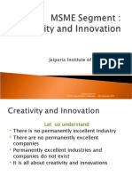 Creativity & Innovation: