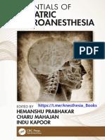 Geriatric Neuroanesthesi