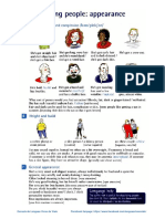 Describing people - Appearance vocabulary