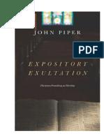 Exultación Expositiva de John Piper