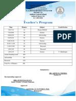 Class and Teachers Program Grade Five.docx
