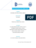 Unidad III Economia Teoria de la produccion y costos