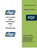 marketing strategy at Afaqs.com Report