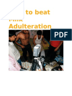 How to Beat Milk Adulteration