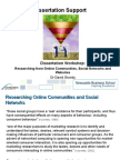 Researching From Online Communities Social Networks and Websites