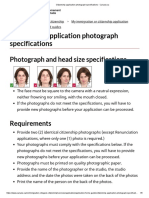 Citizenship application photograph specifications - Canada.ca