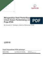 Membaca Hasil Pemeriksaan Turnitin Bagi Dosen Pembimbing LA-Skripsi Praja IPDN
