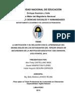 tesis LA MOTIVACION Y SU RELACION CON EL APRENDIZAJE DEL IDIOMA INGLES EN LOS ESTUDIANTES DEL TERCER GRADO DE LA I E 1283.pdf