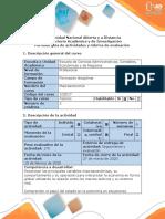 Guía de actividades y rúbrica de evaluación - Actividad colaborativa fase  MACRO