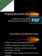 Arroz - Fertilización