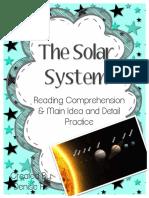 SolarSystemNonFictionReadingComprehensionandMainIdeaDetailPractice