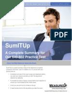 MeasureUp CCNA Exam Summary 640-802