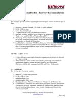 Infinova V2217 VMS- Hardware Recommendations