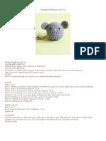 Amigurumi Mouse Cat Toy