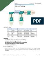 TALLER 6.2.2.5 Lab - Configuring VLANs and Trunking - DESARROLLO