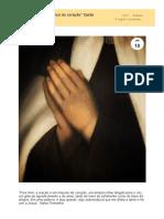 _A oração é um impulso do coração_ Santa Teresinha - Carmelo Cristo Redentor