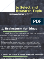 How to Select and Limit a Research Topic