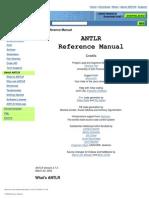 ANTLR Reference Manual