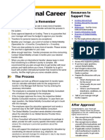 International Career One Pager