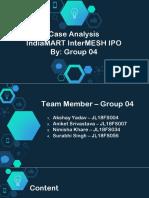 Group 04-IndiaMart IPO Case analysis (1) (2).pptx
