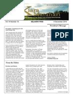 RCBKS Bulletin Vol 19 No 19