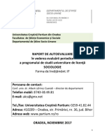 Raport Autoevaluare Sociologie 2017
