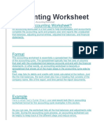 Accounting Worksheet
