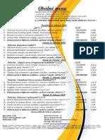Obedné menu 24. 02.-28. 02. 2020