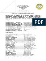 Barangay Ordinance Number  15 Purok Ordinance