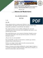 LOS ALBORES DEL MODERNISMO