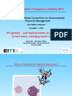 Ufer EITI Globally and Implementation at Country-level Current Status, Emerging Results and Lessons