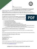 Recreation Employment Application Packet 2020