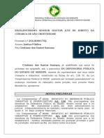 Defesa preliminar prescrição virtual inepcia da denúncia Cristiano Santos