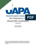 Ser humano y su desarrollo sostenible VII