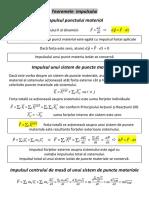 5. Teoremele mecanicii clasice, legi de conservare
