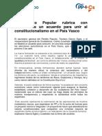 Comunicado Acuerdo PP+Cs Euskadi