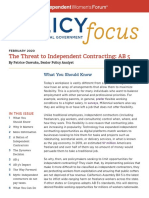 Policy Focus the Threat to Independent Contracting AB 5