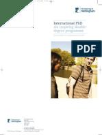 International Phd Leaflet