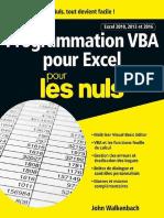 Programmation VBA Pour Excel Pour Les Nuls   Excel 2010, 2013 Et 2016.epub