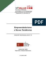 Empreendedorismo e Novas Tendencias 2007