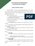 Referat Etica Si Deontologie Profesionala in Activitatea de Informatii