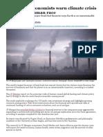 JP Morgan Climate Change Warning