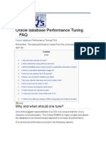 Oracle Database Performance Tuning FAQ