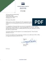 USDA Responses to Senator Richard Blumenthal Re Beulah and Karen