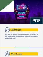 Curso Criação de Jogos para celulares